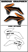 Team Series 2 Custom Shroud Kit- KTM