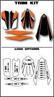 Pro Team Series 4 Custom Trim Kit- KTM